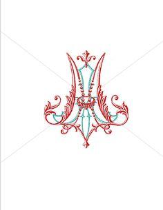 Ornate Custom Digital Wedding Monogram, Ornate wedding monogram, logo, crest, Vintage typography monogram. $85.00, via Etsy.