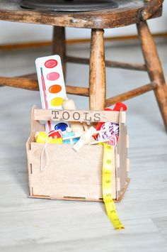 DIY Santa's Workshop Elf Toolboxes