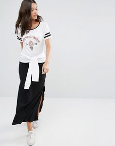 Abercrombie & Fitch | Abercrombie & Fitch Ribbed Skirt with Slit Detail at ASOS