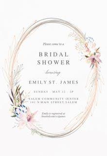 Whimsical Wreath Bridal Shower Invitation Fun Wedding