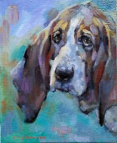 "Daily Paintworks - ""A Dog Called Happy"" - Original Fine Art for Sale - © jerry hunsinger"
