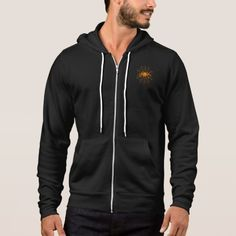 Spooky Halloween Scary Orange Spider Web Hoodie | Zazzle.com Black Zip Hoodie, Basic Hoodie, Full Zip Hoodie, Fleece Hoodie, Hooded Sweatshirts, Men's Hoodies, Grey Hoodie, Sweater Hoodie, American Apparel