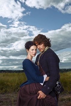 """"""" This is the picture TV Guide used for their Outlander cover. I cannot get over the way Sam is bunching Cait's skirts in his hand. [x] """""""