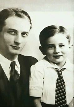 James Dean and father Winton Dean.
