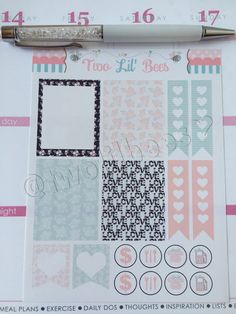 Decorating Kit  Love and Flowers Stickers Perfect by TwoLilBeesCo