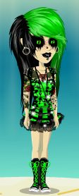 ^.~ green and black like usual
