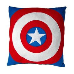 Almofada Escudo Capitão América | Costura Criativa | 209950 - Elo7