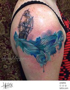 David Boggins - Ship and Waves for Carlee