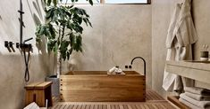 Find Your Zen: 19 Spa Bathroom Ideas Serene Bathroom, Timeless Bathroom, Modern Bathroom Decor, Bathroom Spa, Bathroom Interior Design, Bathroom Ideas, Lily Ann Cabinets, Distressed Cabinets, Stone Wall Design