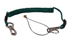 Tool Safety Lanyard - Sprung with Tool Loop - £20.39  http://www.stagedepot.co.uk/rigging/safety/tool-safety-lanyard-sprung-tool-loop  A green lightweight lanyard for safe work at height. Weighing 85g it expands from 520 to 1700mm and springs back with just the right amount of force.  Suitable for 1kg maximum tool weight. Includes clips at both ends, and a keyring and podger loop at the tool end.