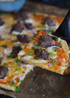 Pizza med bunn av kikertmel - Sukkerfri Hverdag Vegetable Pizza, Food And Drink, Vegetables, Den, Vegetable Recipes, Veggie Food, Vegetarian Pizza, Veggies
