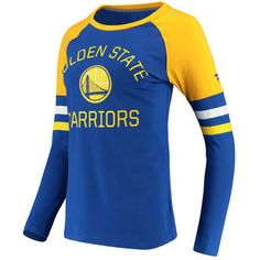 98b063267 Fanatics Branded Golden State Warriors Women s Royal Gold Iconic Long  Sleeve T-Shirt Warriors