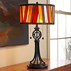 Great stained glass table lamp.