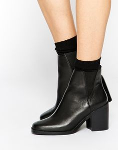 Shelly's London Lovenia Heeled Leather Chelsea Boots