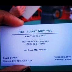 Creative business card! lol