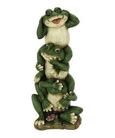 Look at this #zulilyfind! Silly Frog Garden Figurine by Ore International Inc. #zulilyfinds