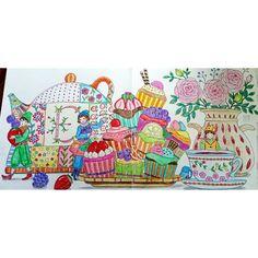 #ロマンティックカントリー #eriy #romanticcountry #colorindolivrostop #creativelycoloring #desenhoscolorir #docepapelatelier #beautifulcoloring #colortherapyclub #coloringbookclub #picturebook #food