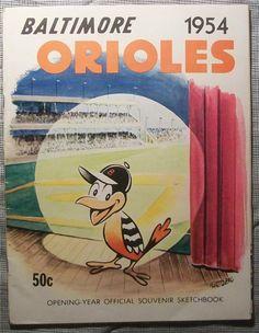 RARE Ever 1954 Baltimore Orioles Yearbook Program Turley Larsen Wertz 1983 World Series, Old Baseball Cards, Baltimore Orioles Baseball, Smash Book, Nfl, Seasons, Maryland, Sports, Yearbooks