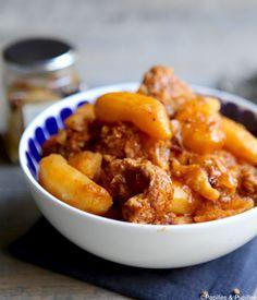 Sauté de veau aux pommes de terre et épices douces