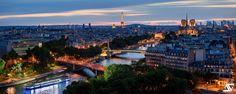 https://flic.kr/p/VawmCj   Blue Hour   Tour Eiffel & Notre-Dame, Paris, France  Facebook / Google+ / Instagram
