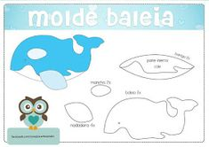 Eu Amo Artesanato: Bichinhos da água com moldes Sea Life Crafts, Sea Crafts, Bear Felt, Felt Baby, Felt Animal Patterns, Stuffed Animal Patterns, Quiet Book Templates, Fish Pillow, Jonah And The Whale