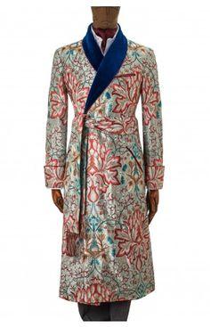 Artichoke Embroidery Gown Aqua/turquoise
