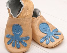 Minishoezoo butterfly lilac  0-6 m soft sole baby leather first shoes
