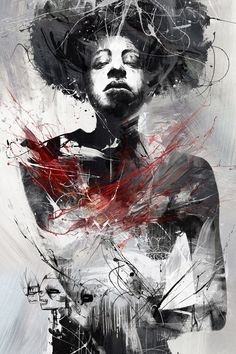 Russ Mills is a talented artist from Kingsbridge, United Kingdom. His work dwells in a netherworld between urban fine art and contemporary graphics, a collision of real and digital media. Russ focuses mainly on the human form particularly the face, interweaving elements from the animal kingdom often reflecting the absurdity of human nature.