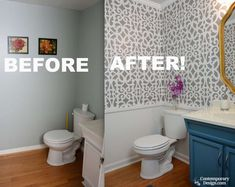 These half bathroom remodeling ideas can inspire a transformation that is sure to impress guests and family members a like. #Half #Bathroom