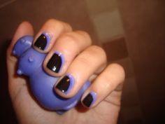 hippo purple nails