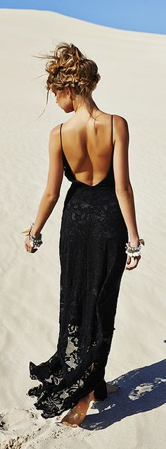 #street #style black lace dress / summer @wachabuy