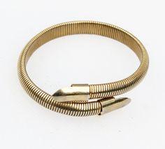 Vintage Gold  Coil/ Snake Wrap Bracelet by Gener8tionsCre8tions