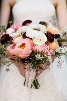 Pretty blooms: http://www.stylemepretty.com/2015/05/01/rustic-summer-wedding-at-the-barn-at-the-crane-estate/ | Photography: Joyelle West - www.jwestwedding.com