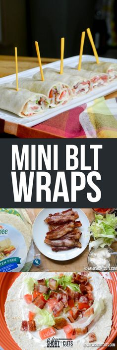 Good food doesn't have to be difficult! This easy Mini BLT Wraps recipe makes the perfect appetizer or lunch! Plus just switch out the tortillas for gluten free ones to make these GF!