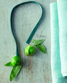 """See the """"Sprout Napkin Ties How-To"""" in our Thanksgiving Table Settings gallery"""
