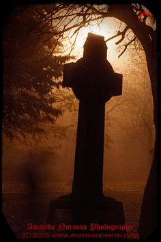 Self portrait on a foggy night in St James Cemetery  #Liverpool #cross #headstonesymbols #headstone #gravestone #tombstone #graveyard #cemetery #graveyardphotography #GothicHorror