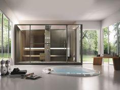 Sauna Dampfbad kombination eigenen badezimmer LOGICA TWIN EFFEGIBI