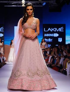 Anushree Reddy Walked Down the Ramp in Gold and Pink Lehenga