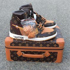 Lv Sneakers, Louis Vuitton Shoes Sneakers, Custom Sneakers, Sneakers Fashion, Custom Shoes, White Sneakers, Louis Vuitton Jeans, Jordan Shoes Girls, Air Jordan Shoes
