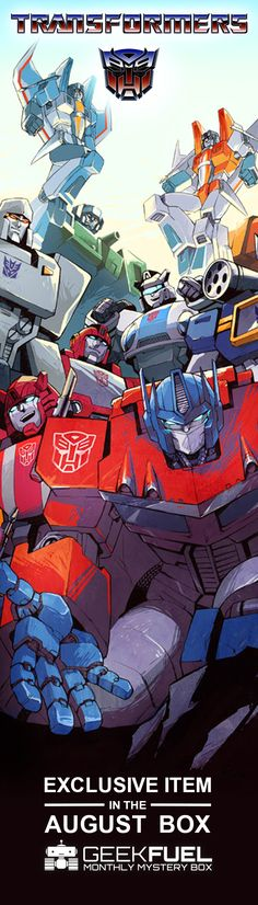 Don't miss this month's Transformers item! August's mystery box has a record-breaking 5 EXCLUSIVE products. Sign up today before they're sold out!