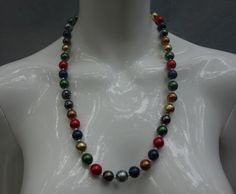 Yves Saint Laurent YSL 70s Glass Beads Necklace by Vintageables