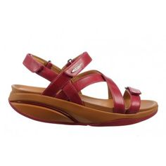 New MBT Women's Kiburi Persian Red sandals are available in various colors. Soft microfiber lining of these sandals allows moisture to wick & helps to keep your feet cool & dry. Red Sandals, Persian, Collection, Fashion, Moda, Fashion Styles, Persian People, Persian Cats, Fashion Illustrations