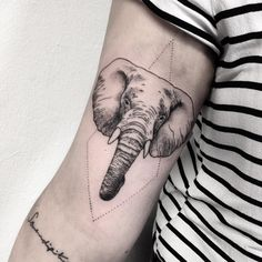 elephant for melina #elephant #tattoo #geometry #dotwork #dotworktattoo #vegan…