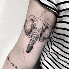 elephant for melina #elephant #tattoo #geometry #dotwork #dotworktattoo #vegan…