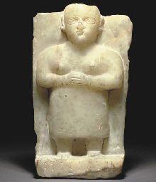 A SOUTH ARABIAN ALABASTER STELE CIRCA 2ND-1ST CENTURY B.C.