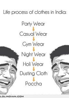 life process of clothes in india