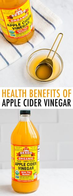 Learn all the health benefits of apple cider vinegar including blood sugar control, lowering cholesterol and weight loss. Plus tips for how to incorporate apple cider vinegar into your diet. Apple Health Benefits, Apple Cider Benefits, Good Healthy Recipes, Paleo Recipes, Unfiltered Apple Cider Vinegar, Bird Food, Lower Cholesterol, Alternative Health, Detox Recipes