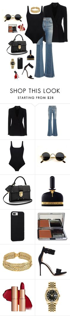 """Sem título #703"" by dressabiberlinda ❤ liked on Polyvore featuring Versace, Roberto Cavalli, Orlebar Brown, Tom Ford, Case-Mate, La Prairie, Chanel, Gianvito Rossi, Rolex and Bobbi Brown Cosmetics"