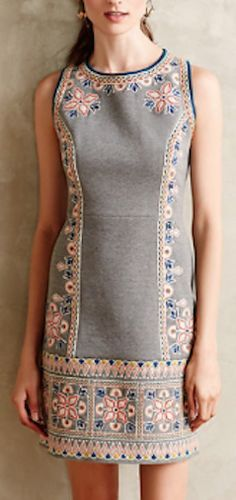 beautifully embroidered shift dress http://rstyle.me/n/n25qdr9te