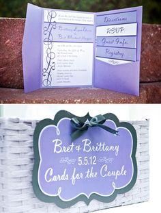 Real Wedding #invitations #decorations